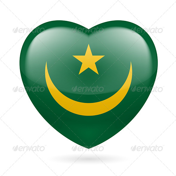 Heart Icon of Mauritania - Miscellaneous Vectors