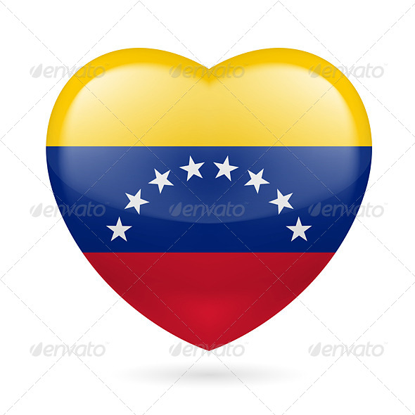 Heart Icon of Venezuela - Miscellaneous Vectors