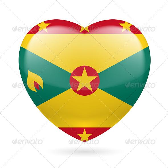 Heart Icon of Grenada - Miscellaneous Vectors