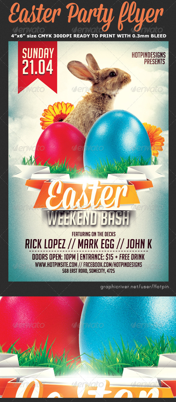 Easter Bash Flyer Template v3 - Events Flyers