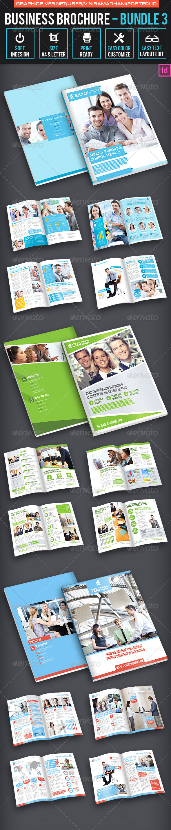 Business Brochure bundle 3 - Corporate Brochures