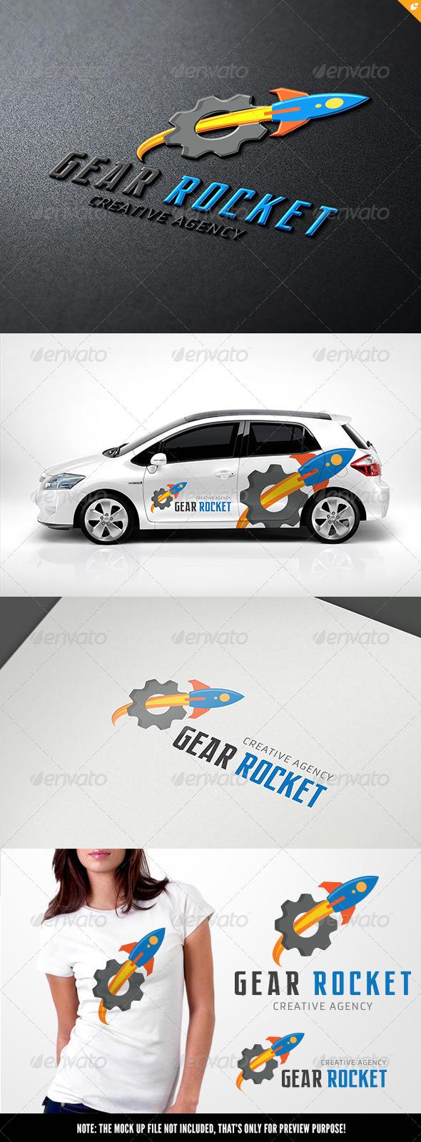 Gear Rocket - Objects Logo Templates