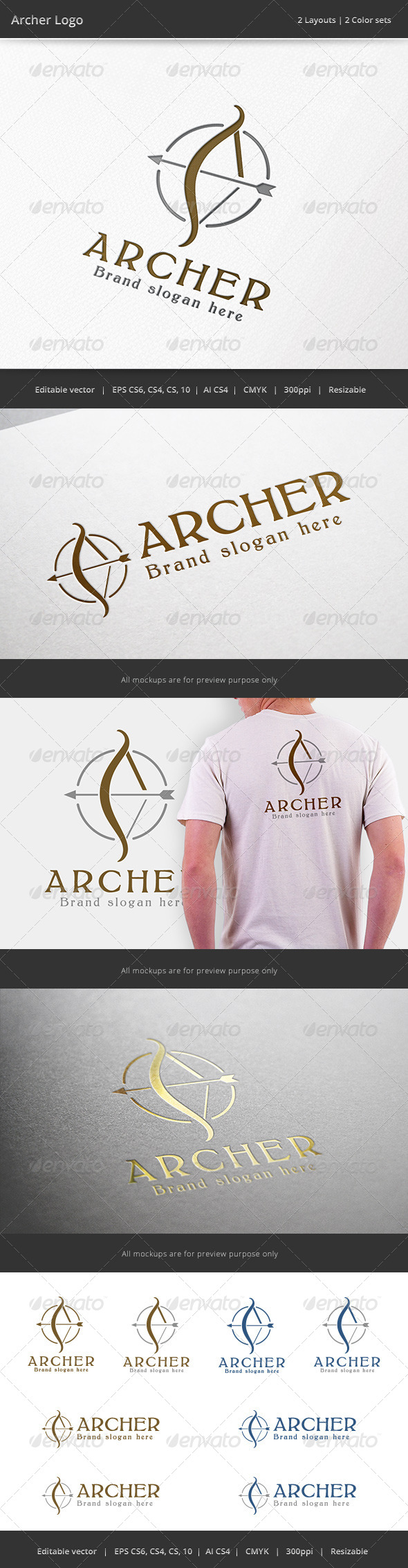 Archer Arrow Logo - Objects Logo Templates