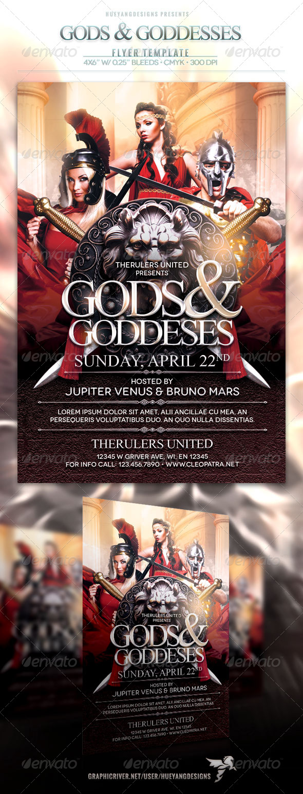 Gods And Goddesses Flyer - Events Flyers