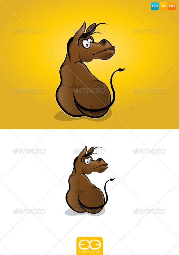 Donkey - Animals Illustrations