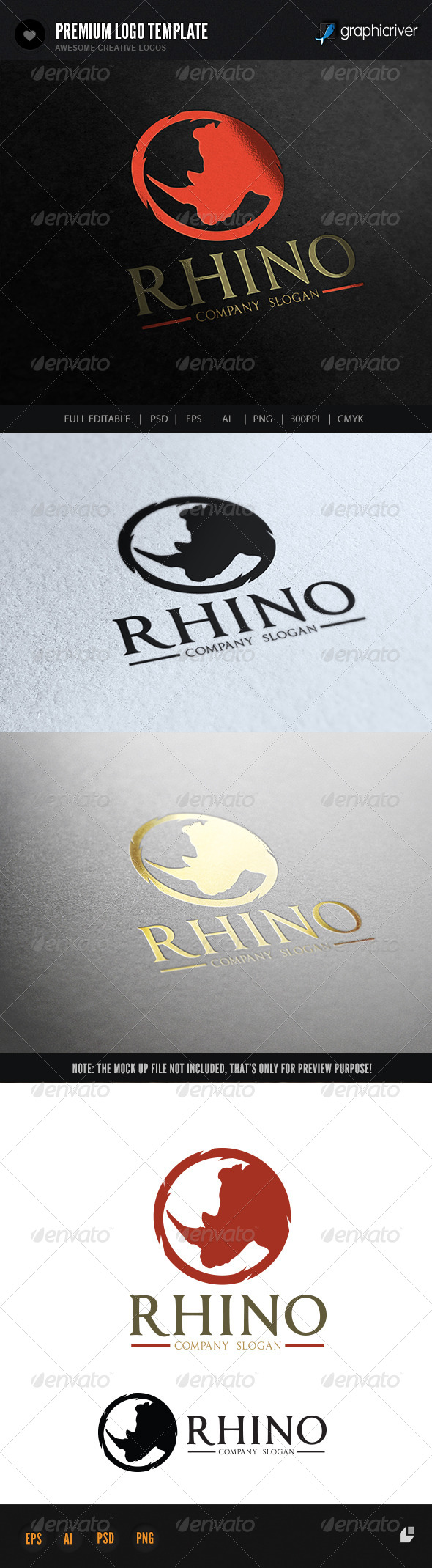 Rhino - Crests Logo Templates
