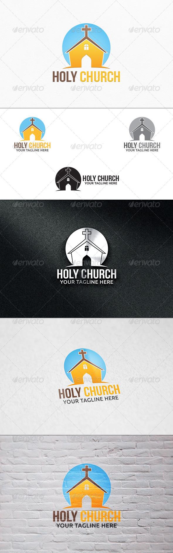 Holy Church - Logo Template - Buildings Logo Templates