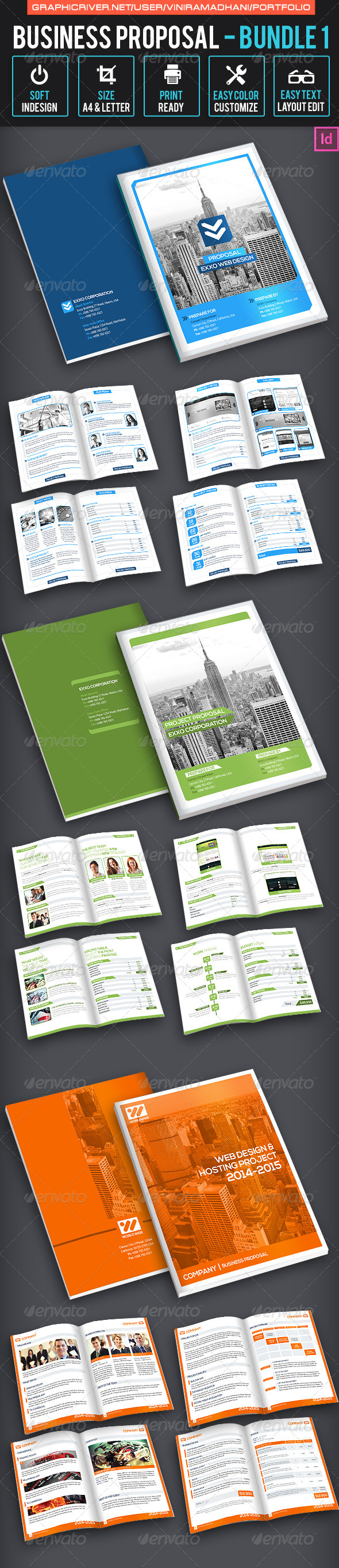 Business Proposal Bundle 1 - Proposals & Invoices Stationery
