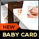 Boy/Girl Baby Announcement Card II - Classic - GraphicRiver Item for Sale