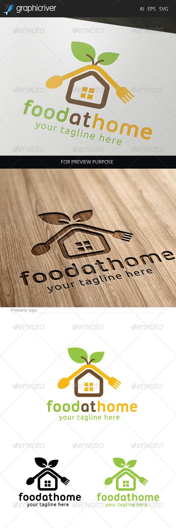 Food at Home Logo. - Food Logo Templates