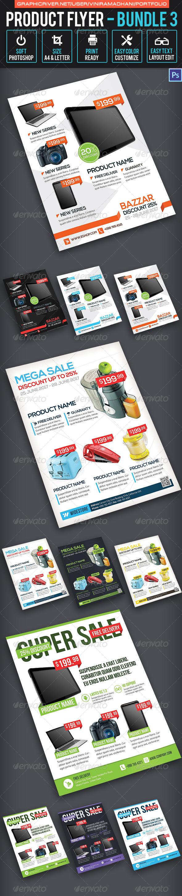 Product Promotion Flyer Bundle 3 - Commerce Flyers