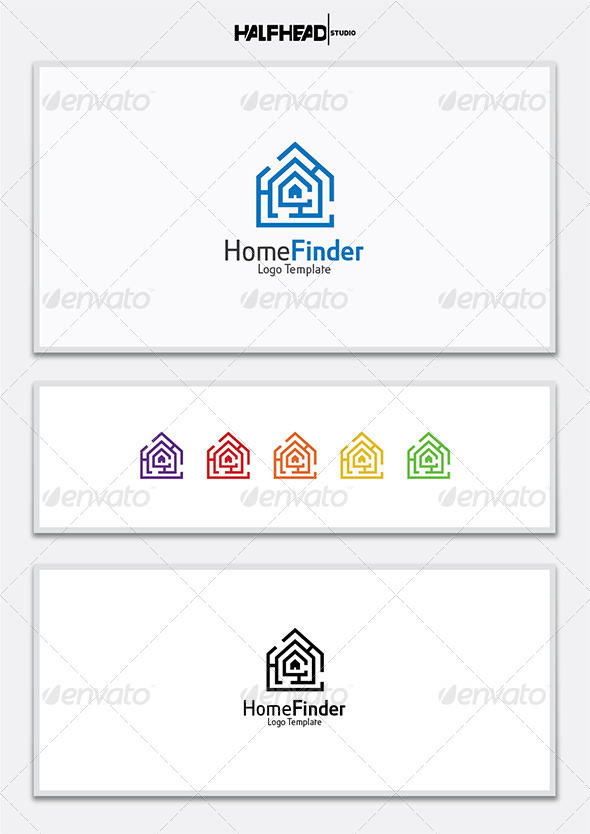 HomeFinder Logo Template - Abstract Logo Templates