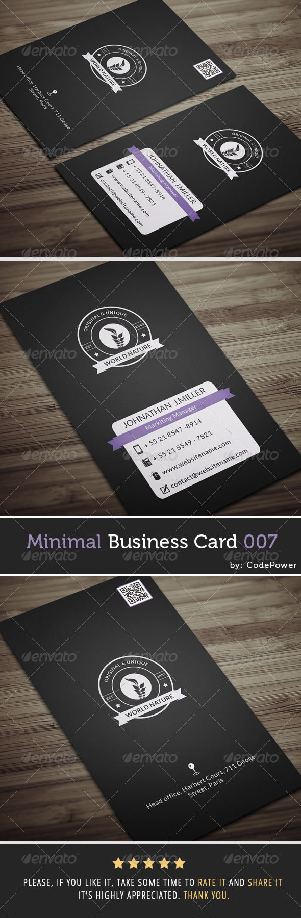 Minimal Business Card 007 - Corporate Business Cards
