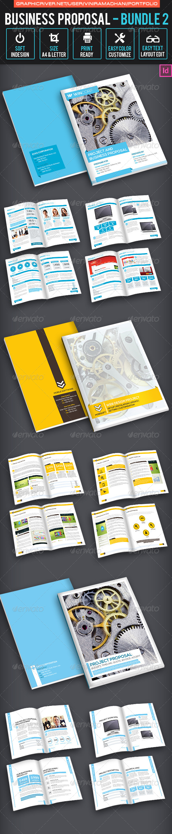 Business Proposal Bundle 2 - Proposals & Invoices Stationery