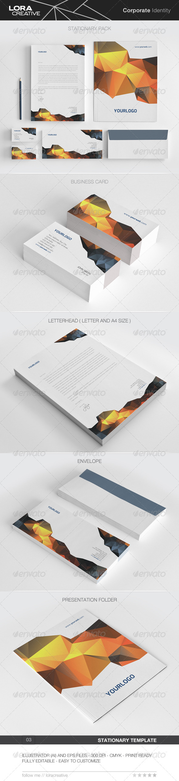 Modern Stationary Pack - 03 - Stationery Print Templates