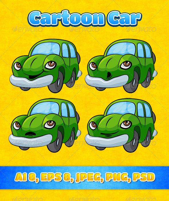 Cartoon Car - Miscellaneous Characters