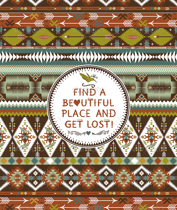 Hipster Seamless Aztec Pattern - Patterns Decorative