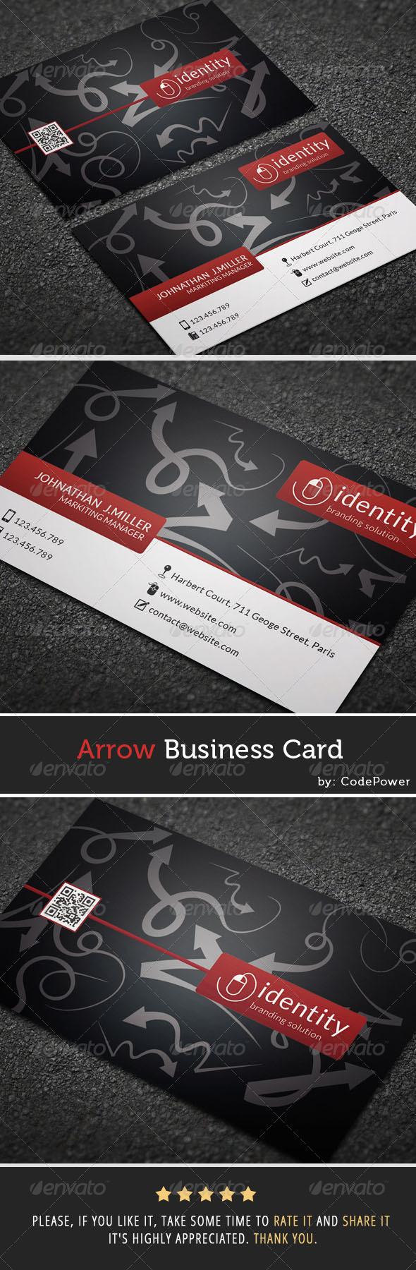 Arrow Business Card - Creative Business Cards
