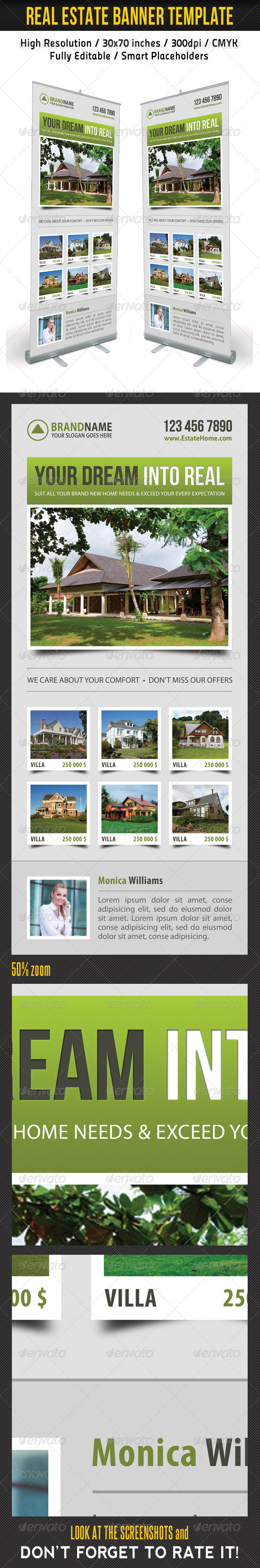 Real Estate Banner Template 08 - Signage Print Templates