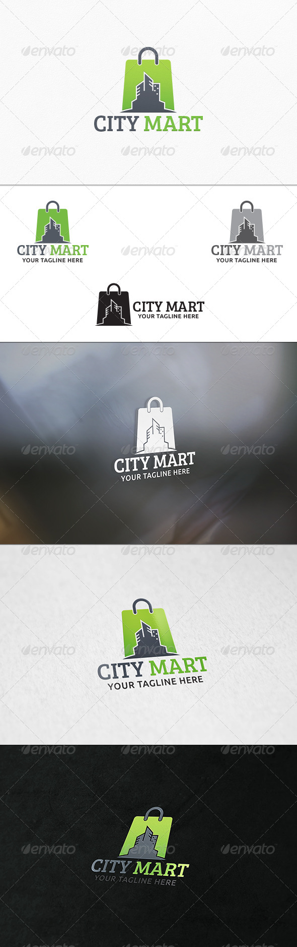 City Shop - Logo Template - Buildings Logo Templates