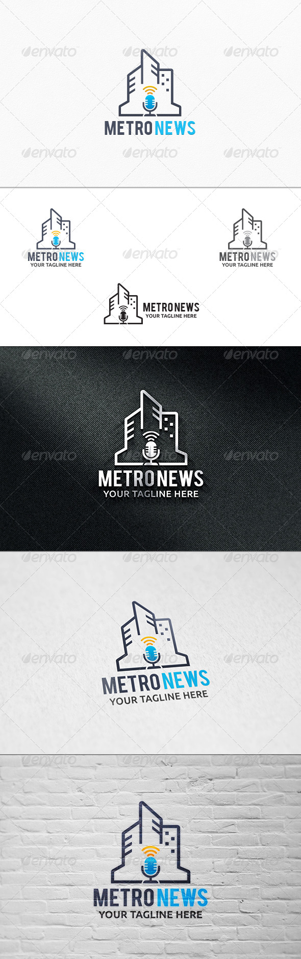 Metro News - Logo Template - Symbols Logo Templates
