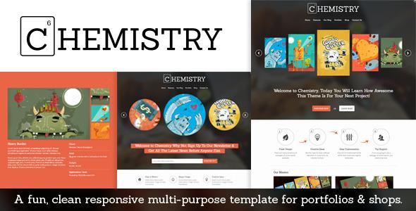 Chemistry – Responsive Portfolio & Shop Template
