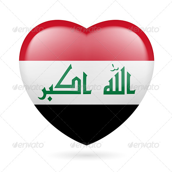 Heart Icon of Iraq - Miscellaneous Vectors