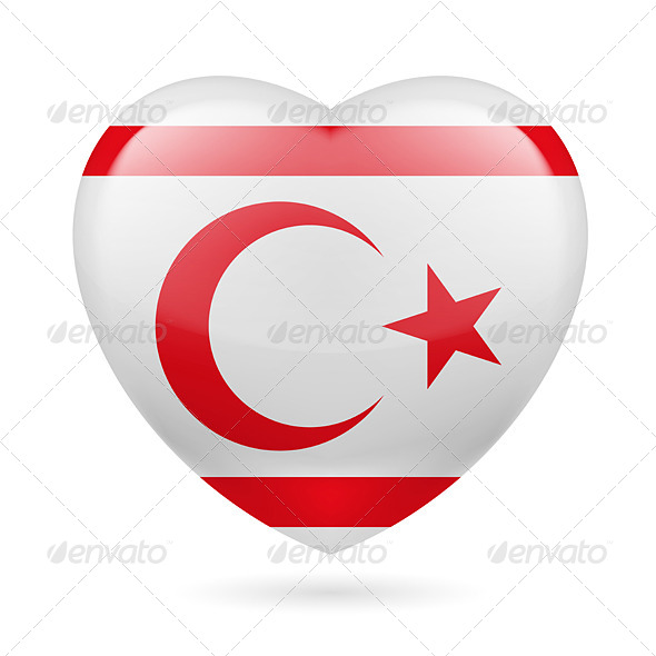 Heart icon of Northern Cyprus - Miscellaneous Vectors