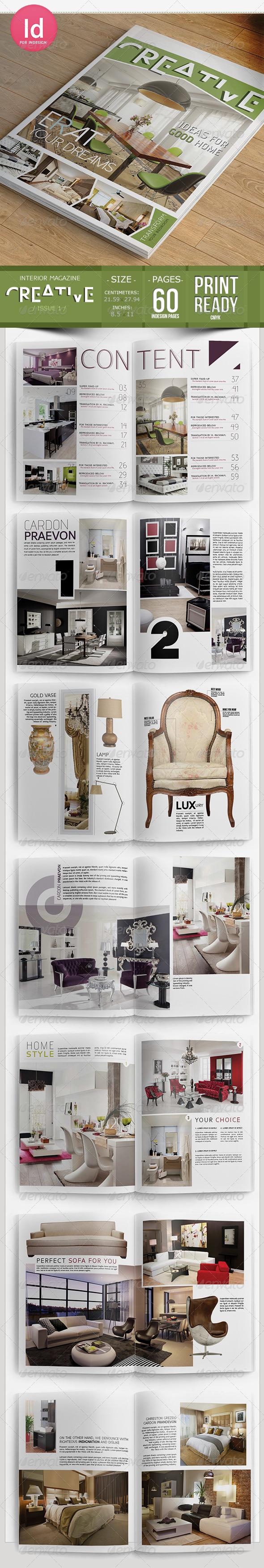 Creative Interior Magazine Template - Magazines Print Templates
