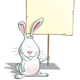 Easter Bunny - Holding a Placard - GraphicRiver Item for Sale