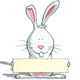 Easter Bunny - Holding a Label - GraphicRiver Item for Sale