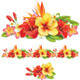 Garland of Tropical Flowers - GraphicRiver Item for Sale