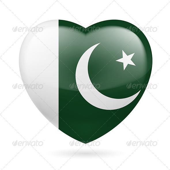 Heart icon of Pakistan - Miscellaneous Vectors