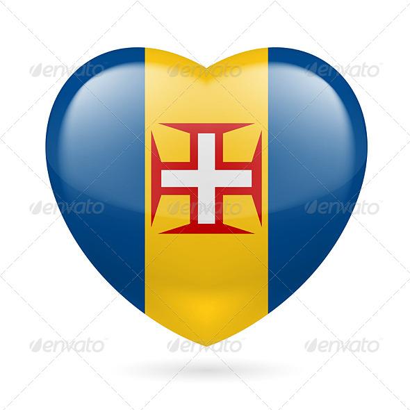 Heart Icon of Madeira - Miscellaneous Vectors