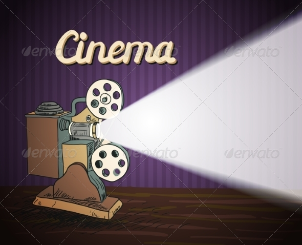 Doodle Cinema Projector - Borders Decorative