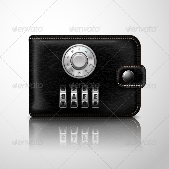 Wallet Locked with Combination Code - Concepts Business