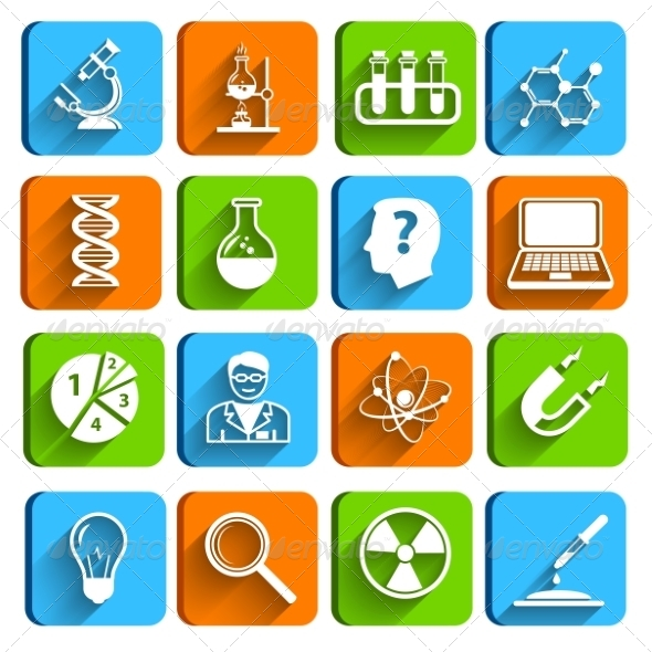 Science Laboratory Icons Set - Technology Icons
