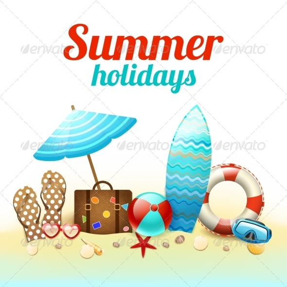 Summer Holidays Background Poster - Backgrounds Decorative