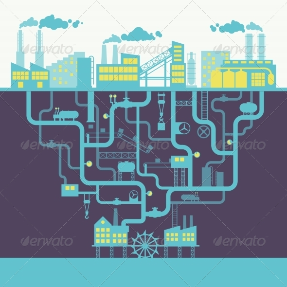 Industry Background Print - Backgrounds Decorative