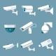 Security Cameras Icons Set - GraphicRiver Item for Sale