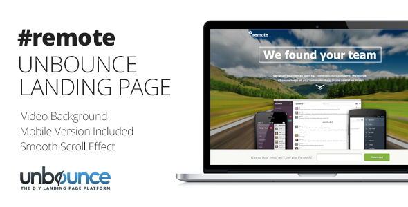 Remote | Unbounce Landing Page with Fullscreen Video Header - Unbounce Landing Pages Marketing