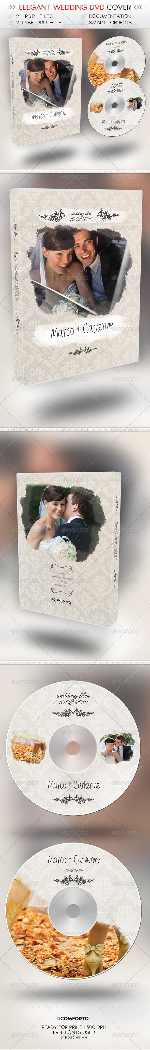 Elegant Wedding DVD Cover - CD & DVD Artwork Print Templates