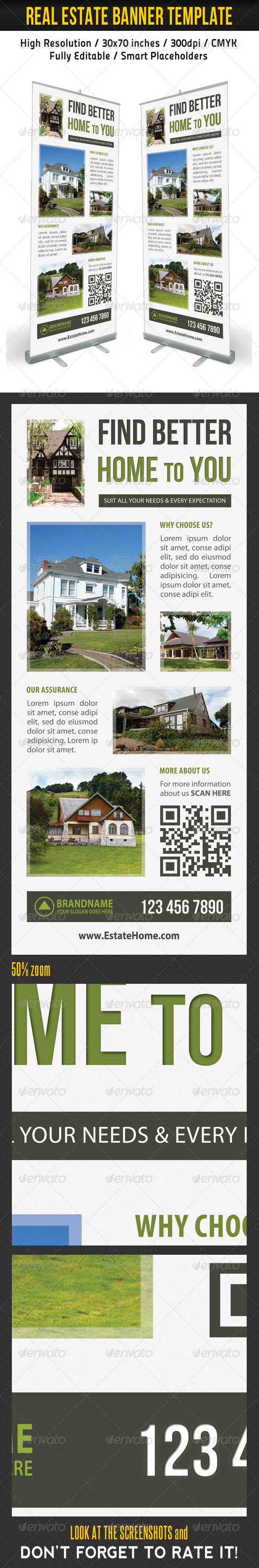Real Estate Banner Template 10 - Signage Print Templates