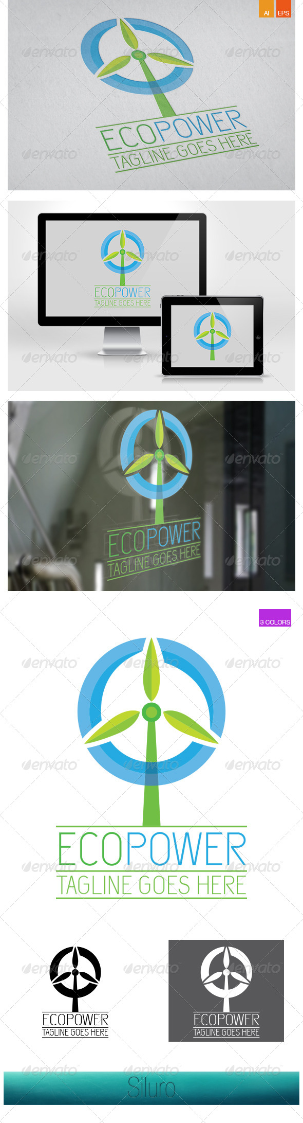 EcoPower - Nature Logo Templates