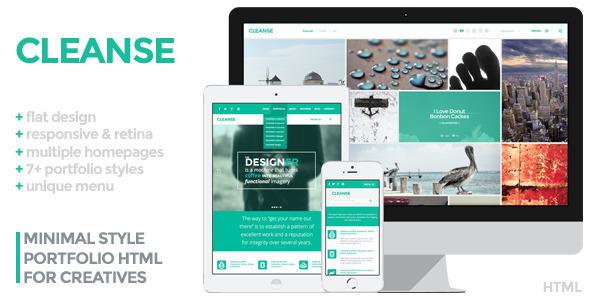 Cleanse – Minimal Portfolio HTML Template