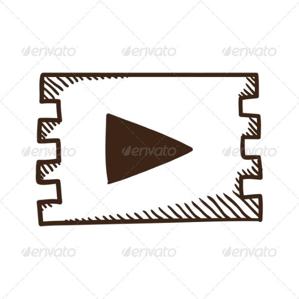 Movie Play Symbol - Web Elements Vectors