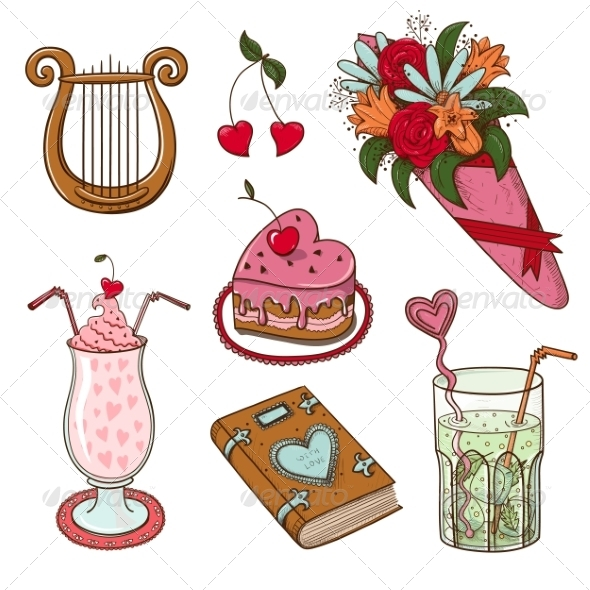 Collection of Sketch Vector Elements - Miscellaneous Seasons/Holidays