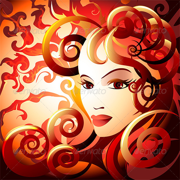The Fire Lady - Conceptual Vectors