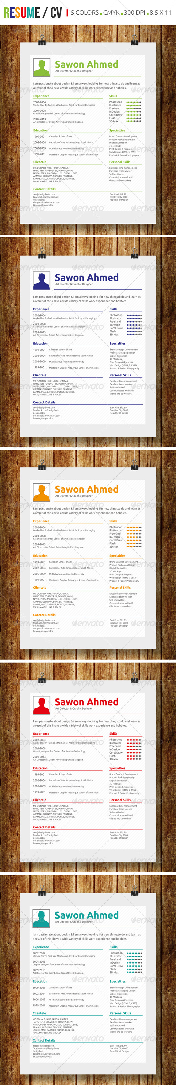 Simple Resume / CV - Resumes Stationery