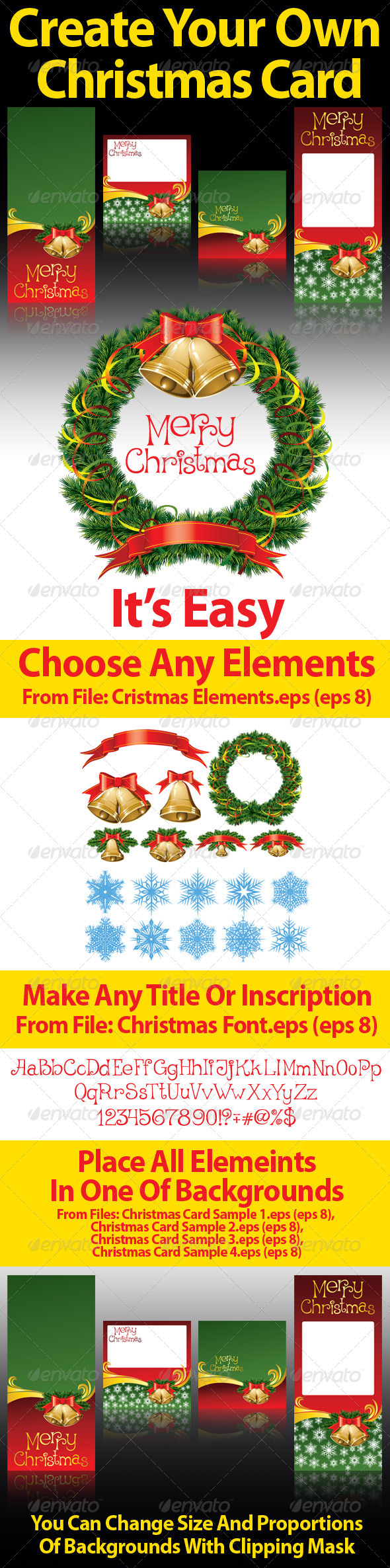 Christmas Elements To Decorate - Christmas Seasons/Holidays
